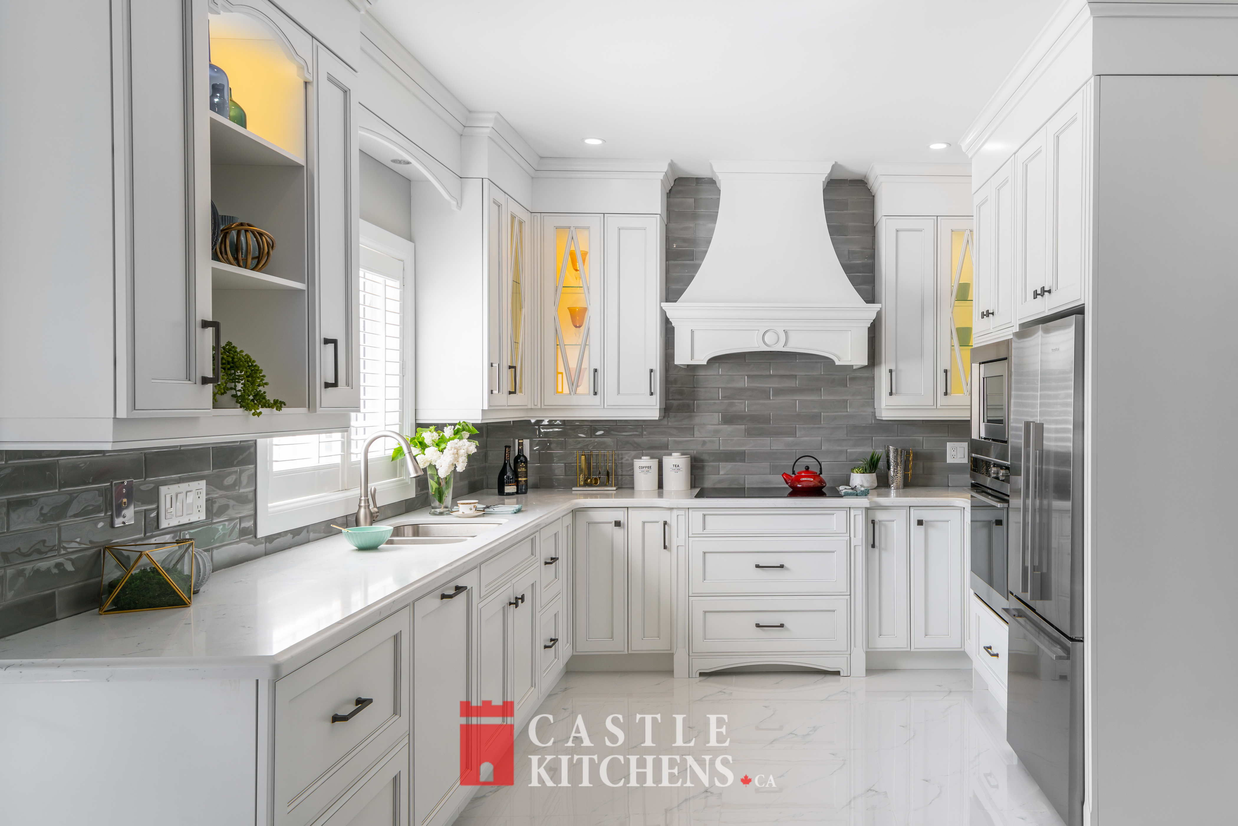 Traditional Transitional Modern Kitchen Cabinet in Markham