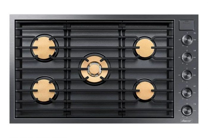 "Dacor DTG36M955FM Modernist 36"" Gas Cooktop"