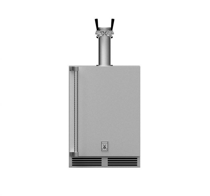 Hestan GFDSL242 Undercounter Double Faucet Beer Dispenser