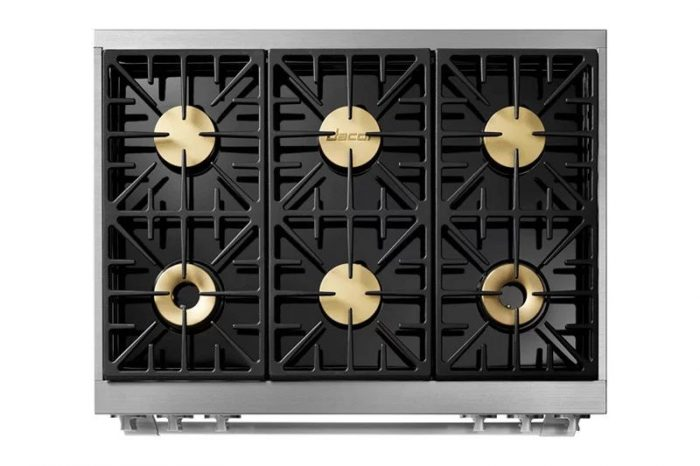 "Dacor HDPR36S/NG 36"" Heritage Dual Fuel Pro Range"
