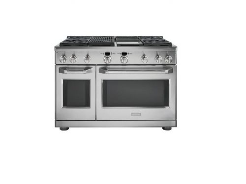 Monogram ZDP484NGPSS 48 Inch Pro Range - Dual Fuel with Grill and Griddle