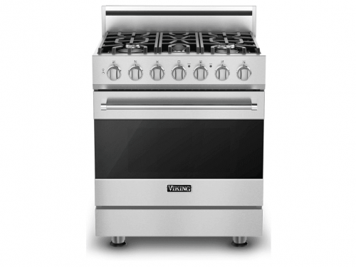 "Viking RVGR33025BSS 30"" Self-Cleaning Gas Range"