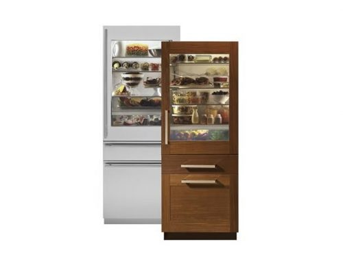 "Monogram ZIK30GNHII 30"" Integrated Glass Door Refrigerator"