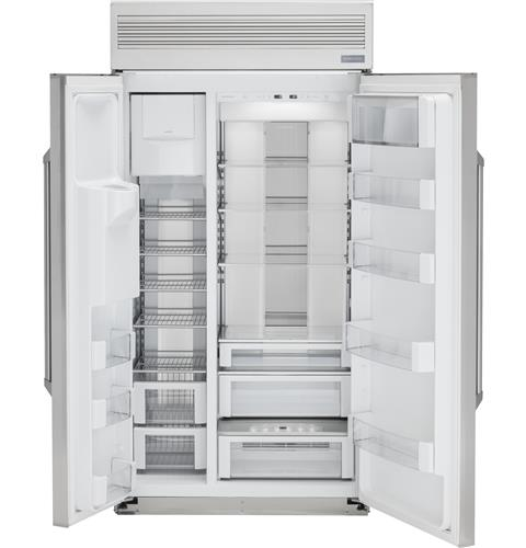 "Monogram ZISP480DKSS 48"" Built-In Professional Side-By-Side Refrigerator with Dispenser"