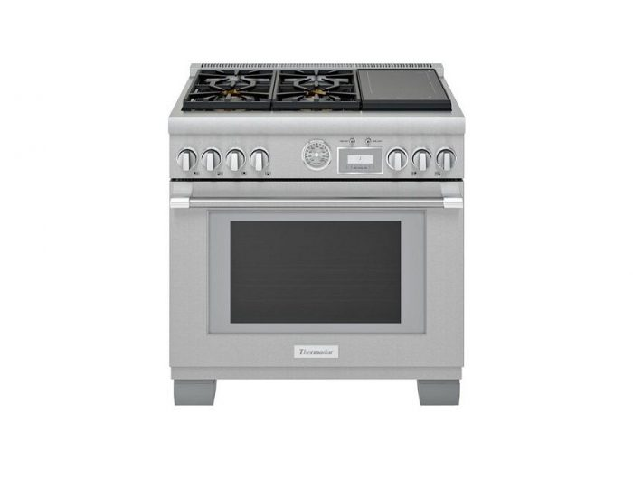 Thermador PRD364WIGC 36-inch Dual-Fuel Induction Range