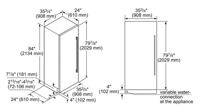 """Thermador T36IF900SP 36"""" Freezer Column over-view"""