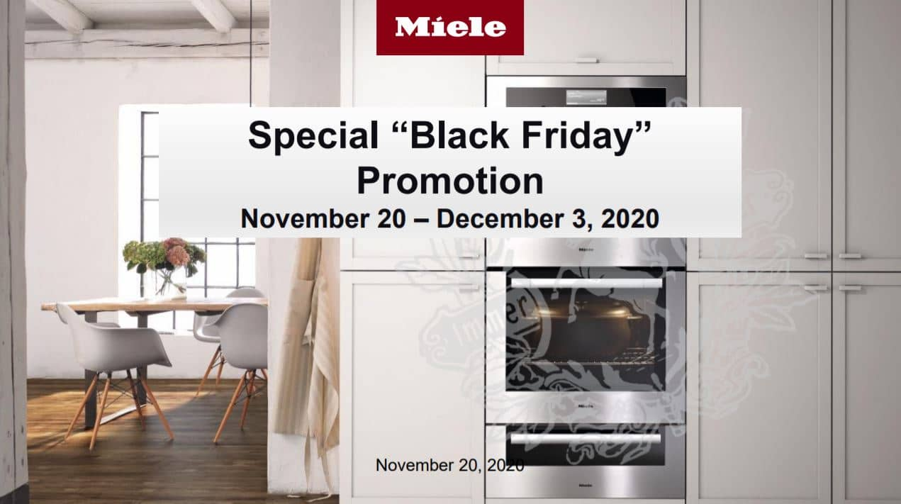 miele canada black friday promo