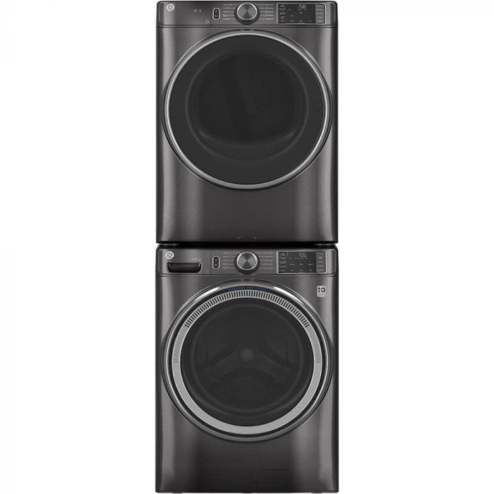 GE Appliances GFD55ESMNDG 7.8 Cu. Ft. Capacity Dryer Diamond Grey STACKED