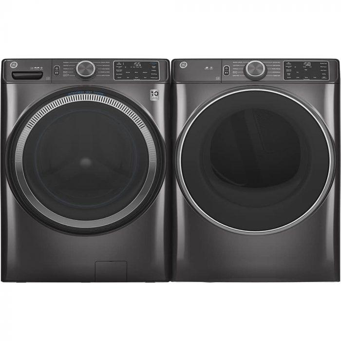 GE Appliances GFD55ESMNDG 7.8 Cu. Ft. Capacity Dryer Diamond Grey PAIR