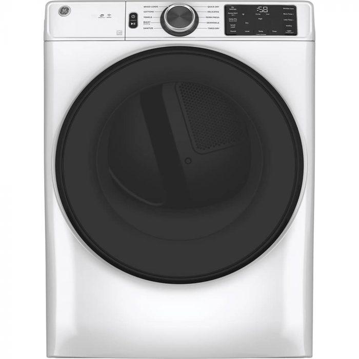 GE Appliances GFD55ESMNWW 7.8 Cu. Ft. Capacity Dryer WHITE LFESTYLE FRONT