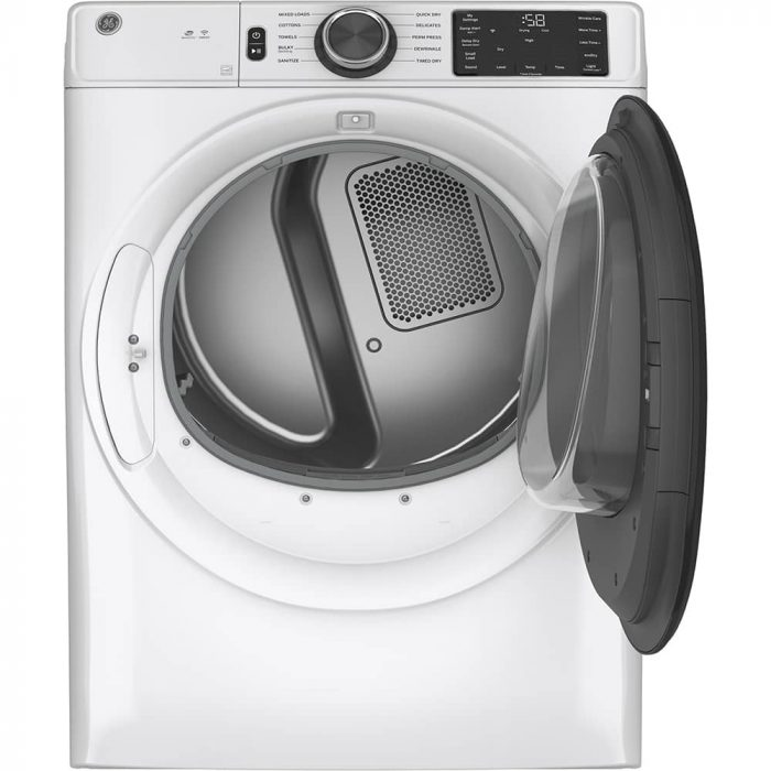 GE Appliances GFD55GSSNWW Gas Dryer White OPEN