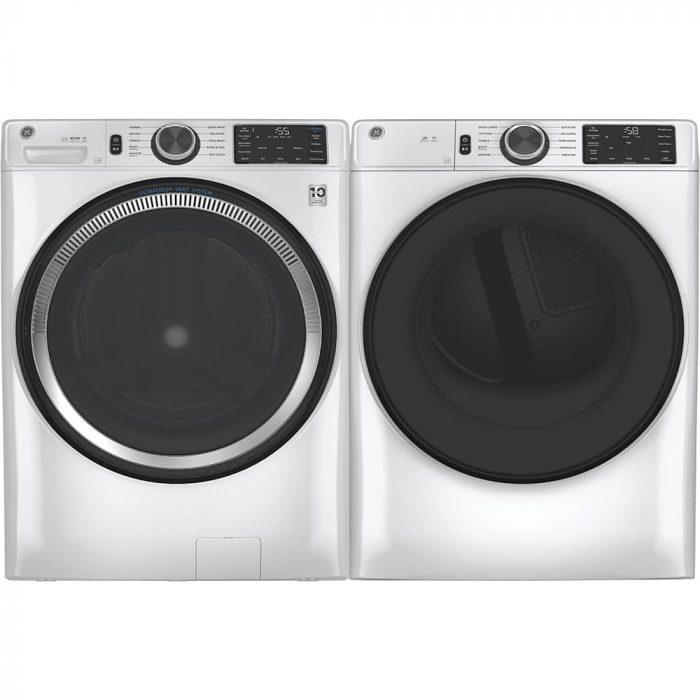 GE Appliances GFD55GSSNWW Gas Dryer White PAIR-WITH-PEDESTAL