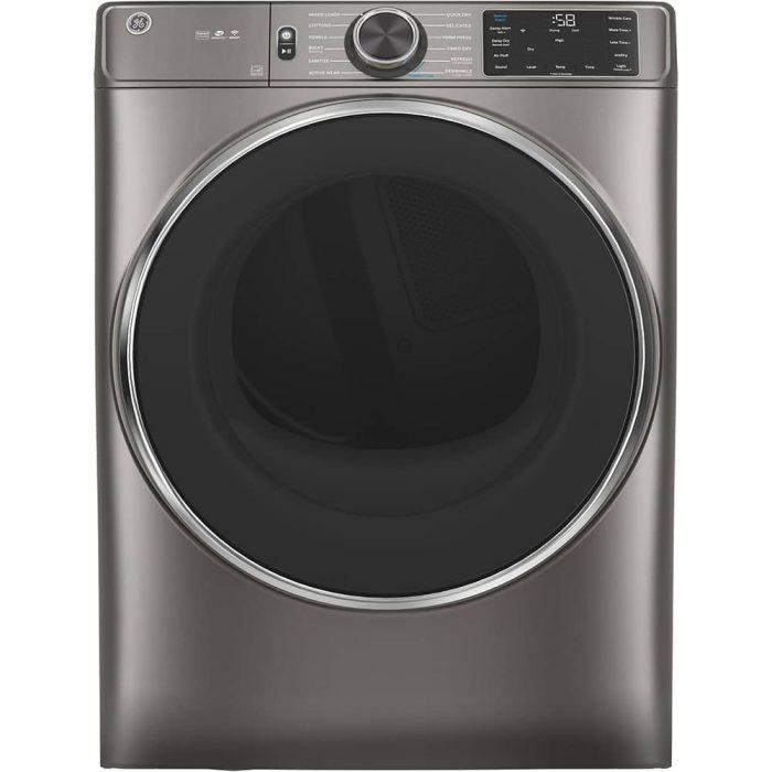 GE GFD65ESMNSN 7.8 Cu. Ft. Capacity Dryer Satin Nickel