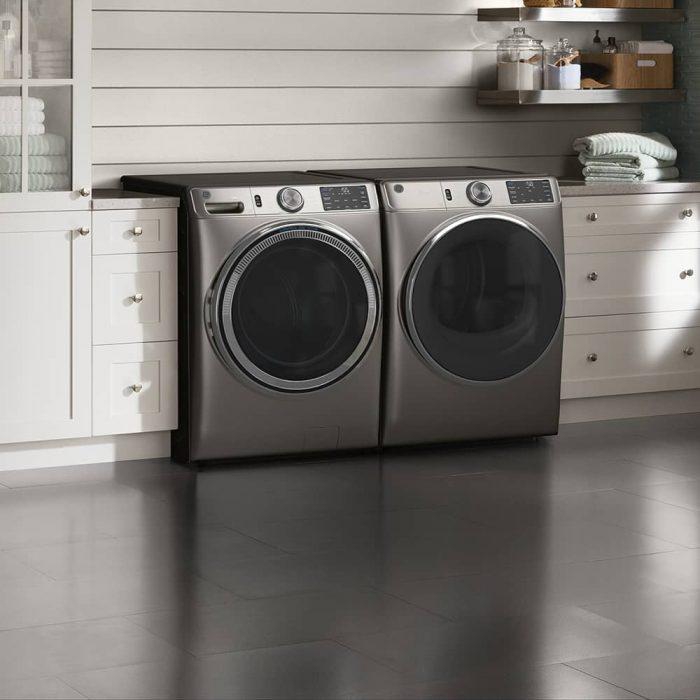 GE GFD65ESMNSN Dryer Satin Nickel LIFESTYLE