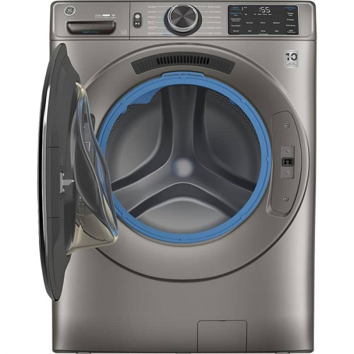 GE Canada GFW650SPNSN Washer with Built-In Wifi Satin Nickel Open