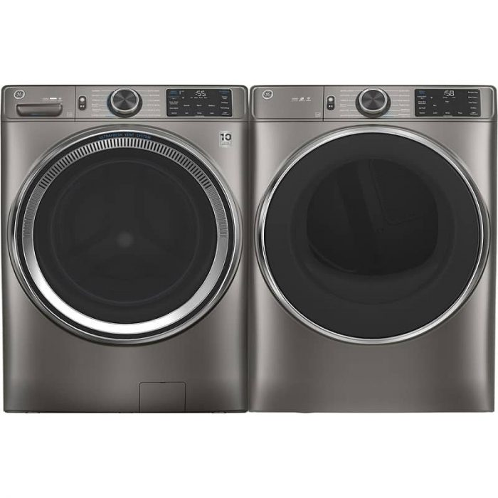 GE Canada GFW650SPNSN Washer with Built-In Wifi Satin Nickel Pair