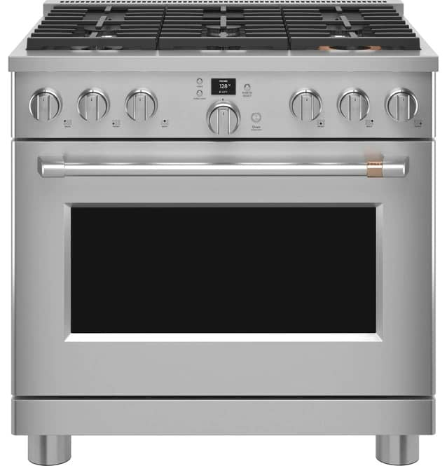 Cafe C2Y366P4TW2 36 Inch Smart Dual Fuel Range In Stainless Steel