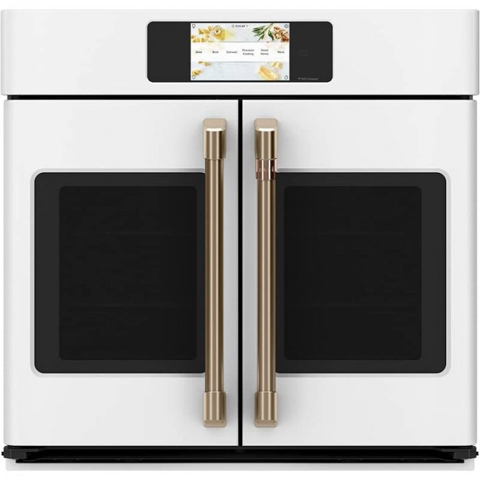 Cafe CTS90FP3ND1 30 Inch Built-In French-Door Wall Oven MATTE WHITE