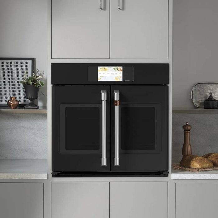 Cafe CTS90FP3ND1 30 Inch Built-In French-Door Wall Oven MATTE BLACK