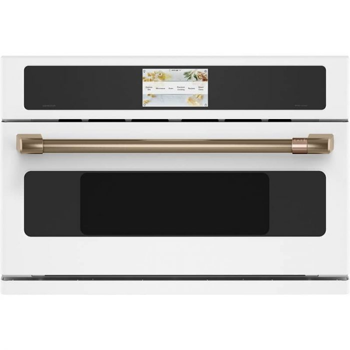 Cafe CSB923P4NW2 30 Inch Wall Oven Matte White Front