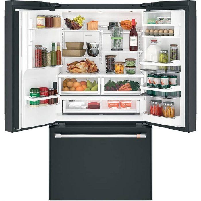 Cafe CYE22TP3MD1 Smart Counter-Depth French-Door Refrigerator Matte black Open