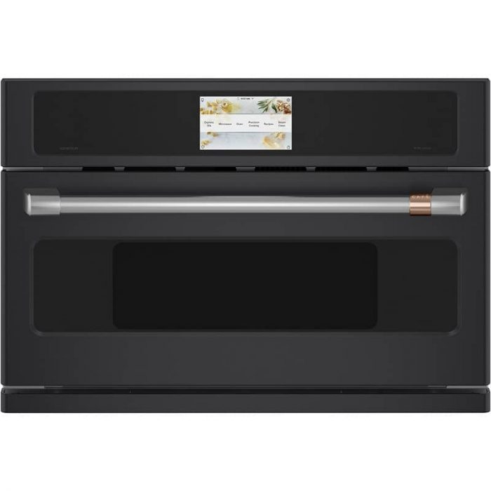 Cafe CSB923P3ND1 30 Inch Smart Five in One Wall Oven MATTE BLACK FRONT