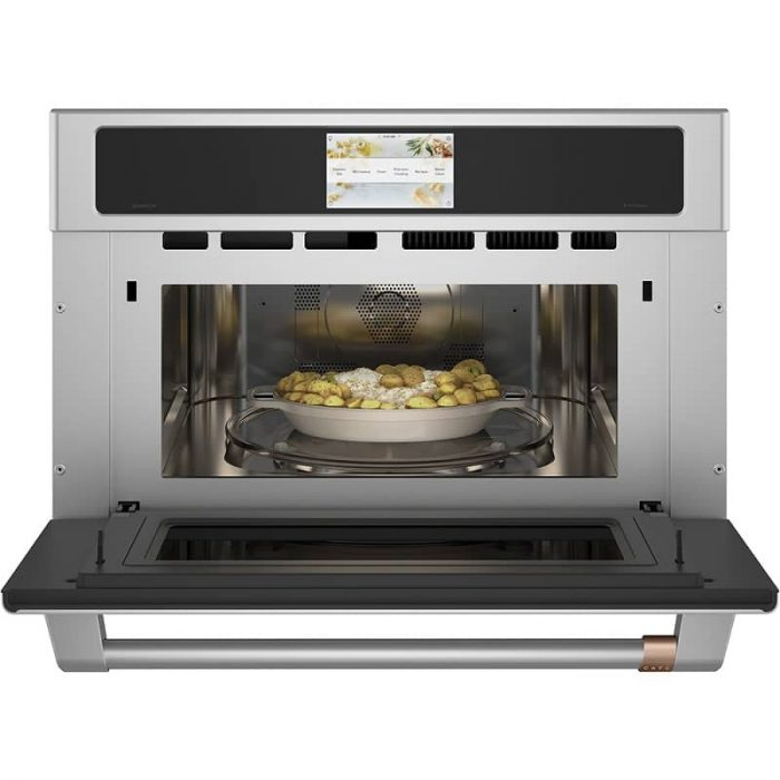 Cafe CSB923P2NS1 30 Inch Wall Oven STAINLESS STEEL Open Full