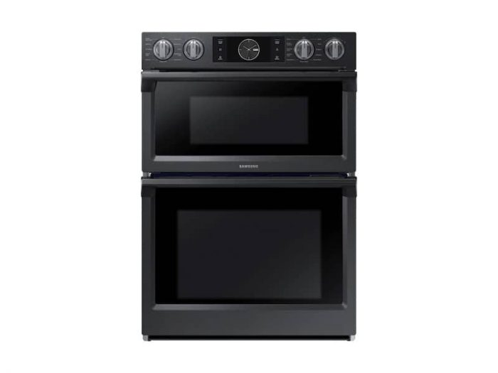Samsung NQ70M7770DG 30 Inch Smart Microwave Combi Double Oven In Black Stainless Steel