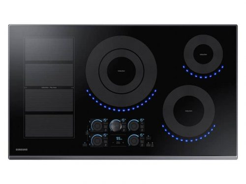 Samsung NZ36K7880UG/AA 36 Inch Smart Induction Cooktop In Black Stainless Steel