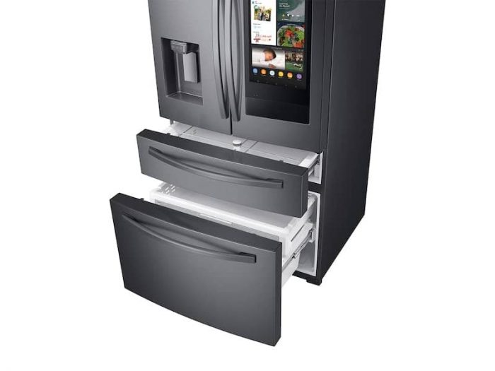 Samsung RF28R7551SG 4-Door French Door Refrigerator In Black Stainless Steel