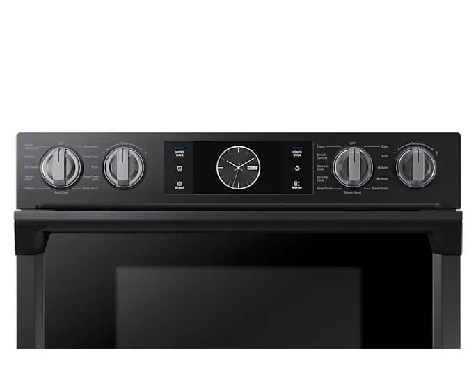 Samsung 30 Inch Smart Microwave Combi Double Oven Front Top