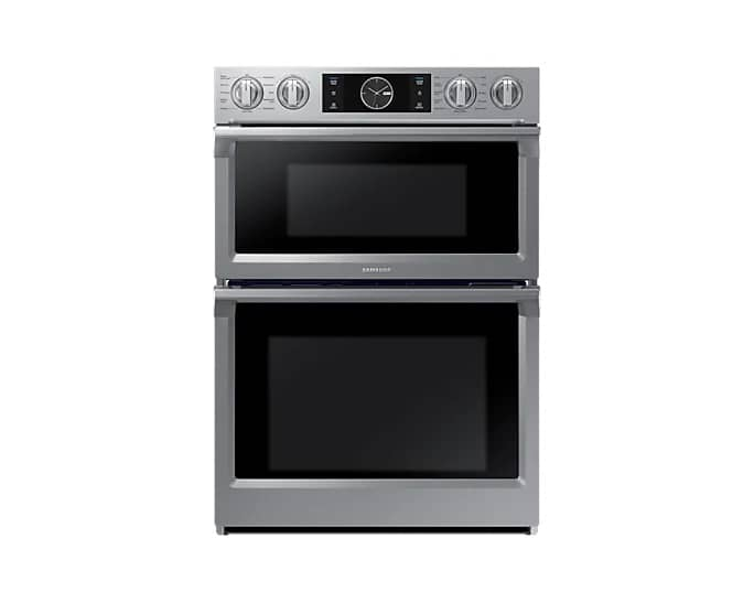 Samsung NQ70M7770DS 30 Inch Smart Microwave Combi Double Oven In Stainless Steel