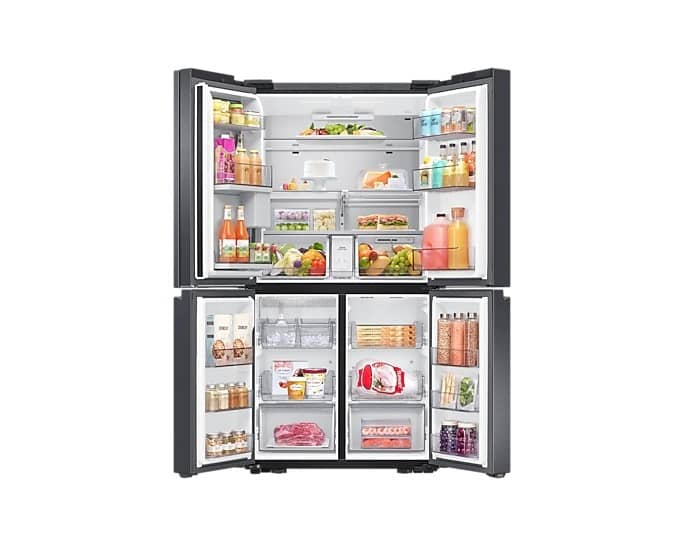Samsung RF23A9771SG/AC 36 Inch Smart Counter Depth Refrigerator Black Stainless Steel Open