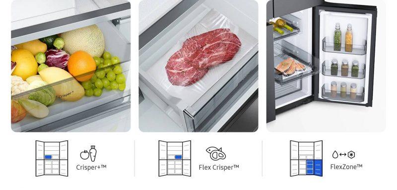 Samsung Flexibly preserve the freshness of food