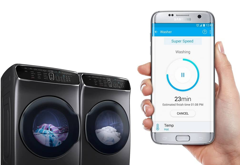 Samsung Monitor your laundry using your smartphone