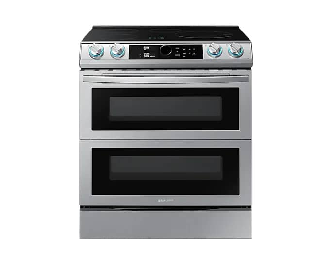 Samsung NE63T8951SS/AC Smart Induction Range Stainless Steel Front View