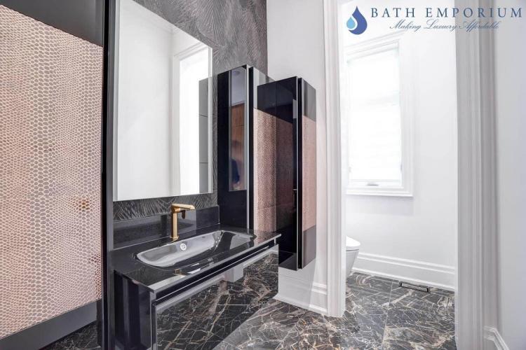 Gold bathroom faucets